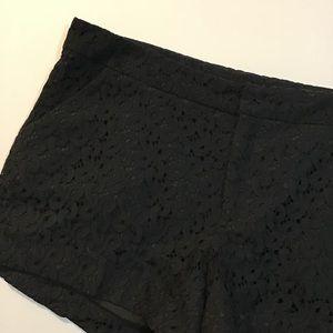 Nicole by Nicole Miller Shorts - Black Lace Dress Shorts